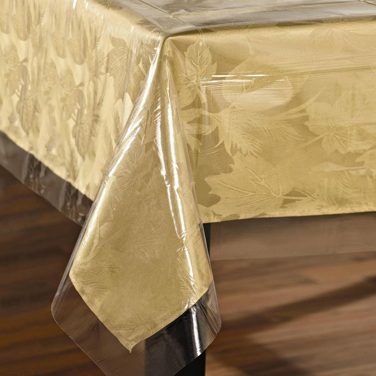 super clear table cloth cover protects fabrics
