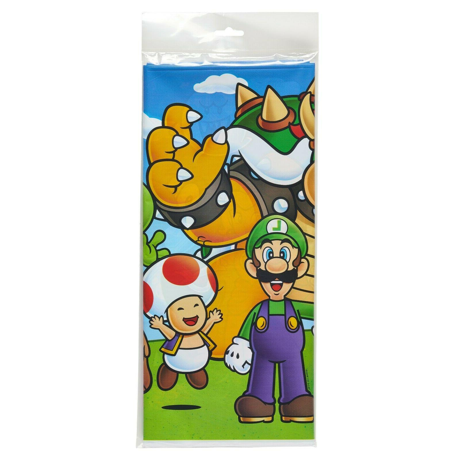 Super Mario Table Cover Decoration Party Supplies Wii