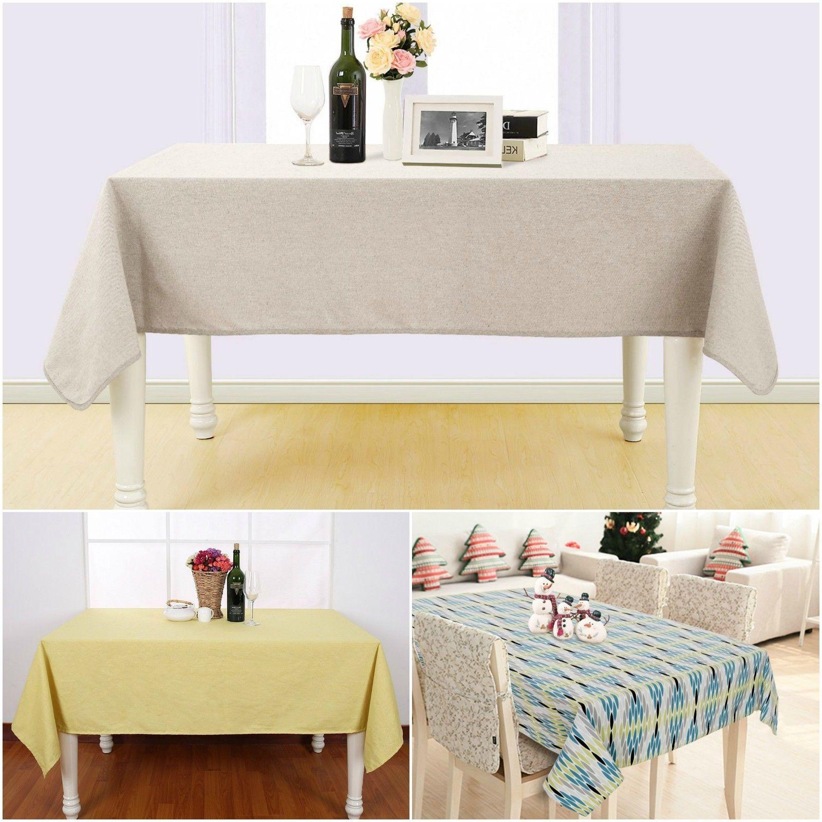 Table Cloth Cover Tablecloth Fabric Cotton Linen Soft Waterp