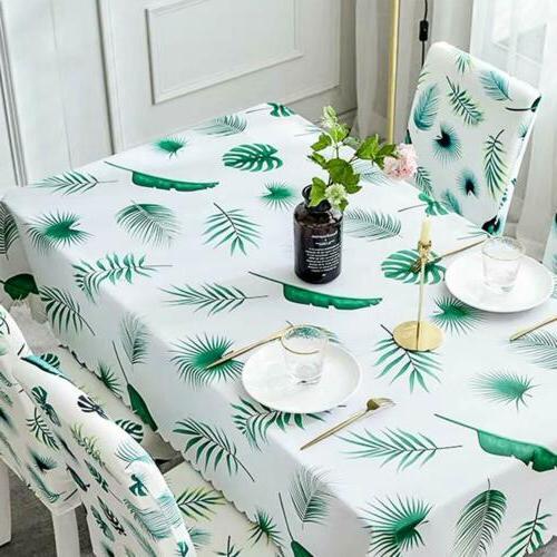 Table Waterproof Rectangle Vinyl Resistant Table