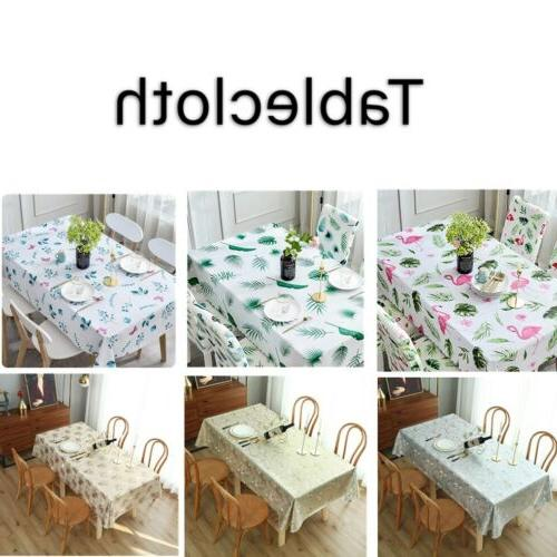 table cloth waterproof pvc rectangle vinyl stain