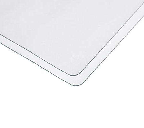 VALLEY TREE Table Frosted Protector 23.6x48 Inch PVC Tablecloth, Table Pads, 1.5mm Desk Pad, Plastic Mat for Dinning
