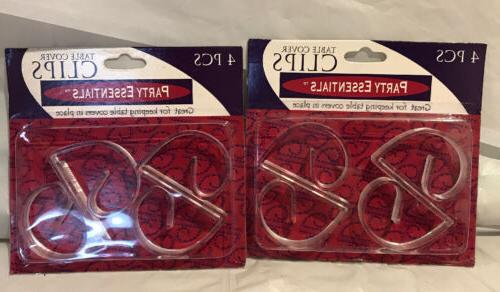 table cover clips clear 4 per package
