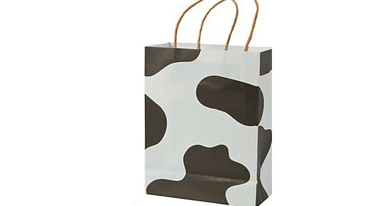 Table Cover Cow Plastic Rectangle Decorations Tableware