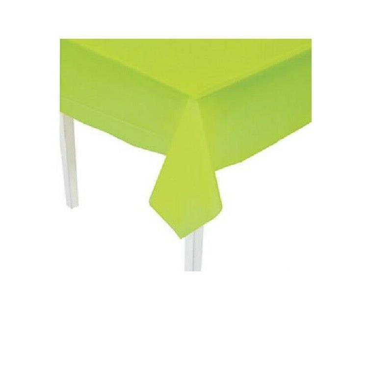 table cover lime green plastic rectangle party