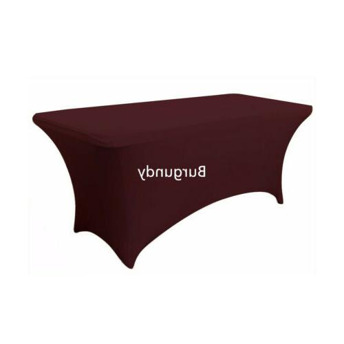4 FT FT 8 FT Spandex Fitted Table Cover Bar party Decor