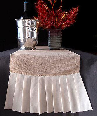 table runner burlap with ruffle table linens