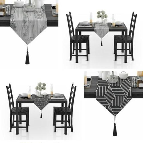 Table Runner Luxury Tablecloth Cotton Linen Dining Table Cover