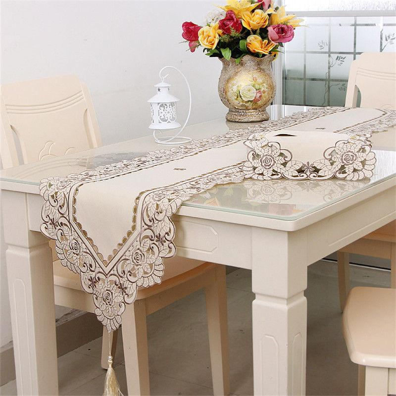 Table Embroidered Table Cover Runners Home