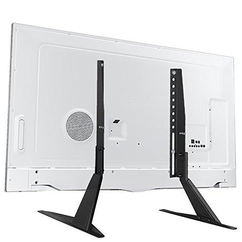 """WALI Universal TV Stand Table for 23""""-42"""" Flat Screen TV, to 200 with Tilt , Black"""