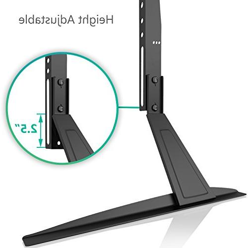 """WALI Universal Stand Table for 23""""-42"""" LED, Screen VESA to with Adjustment , Black"""