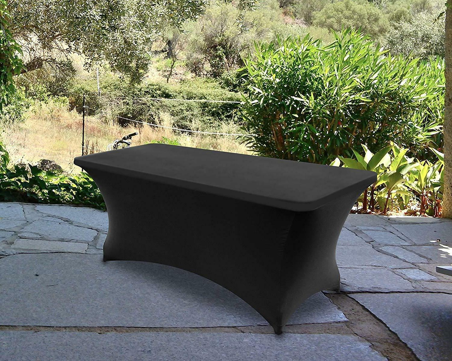 tablecloth 6ft spandex fitted rectangle stretch table