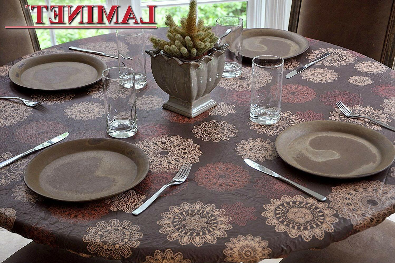 tablecloth elastic vinyl table cover easy clean
