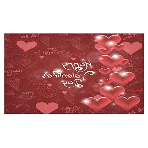 Day 60 Wedding Love Fabric Cover Cloth Kitchen Decoration