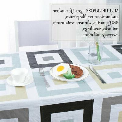 Tablecloth Vinyl Cover Oil Resistant Tablecloth