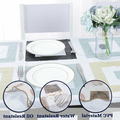 Tablecloth PVC Cover Resistant Tablecloth