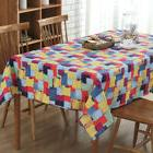 Tablecloths Linen Cotton Fabric  Square Kitchen Table Round