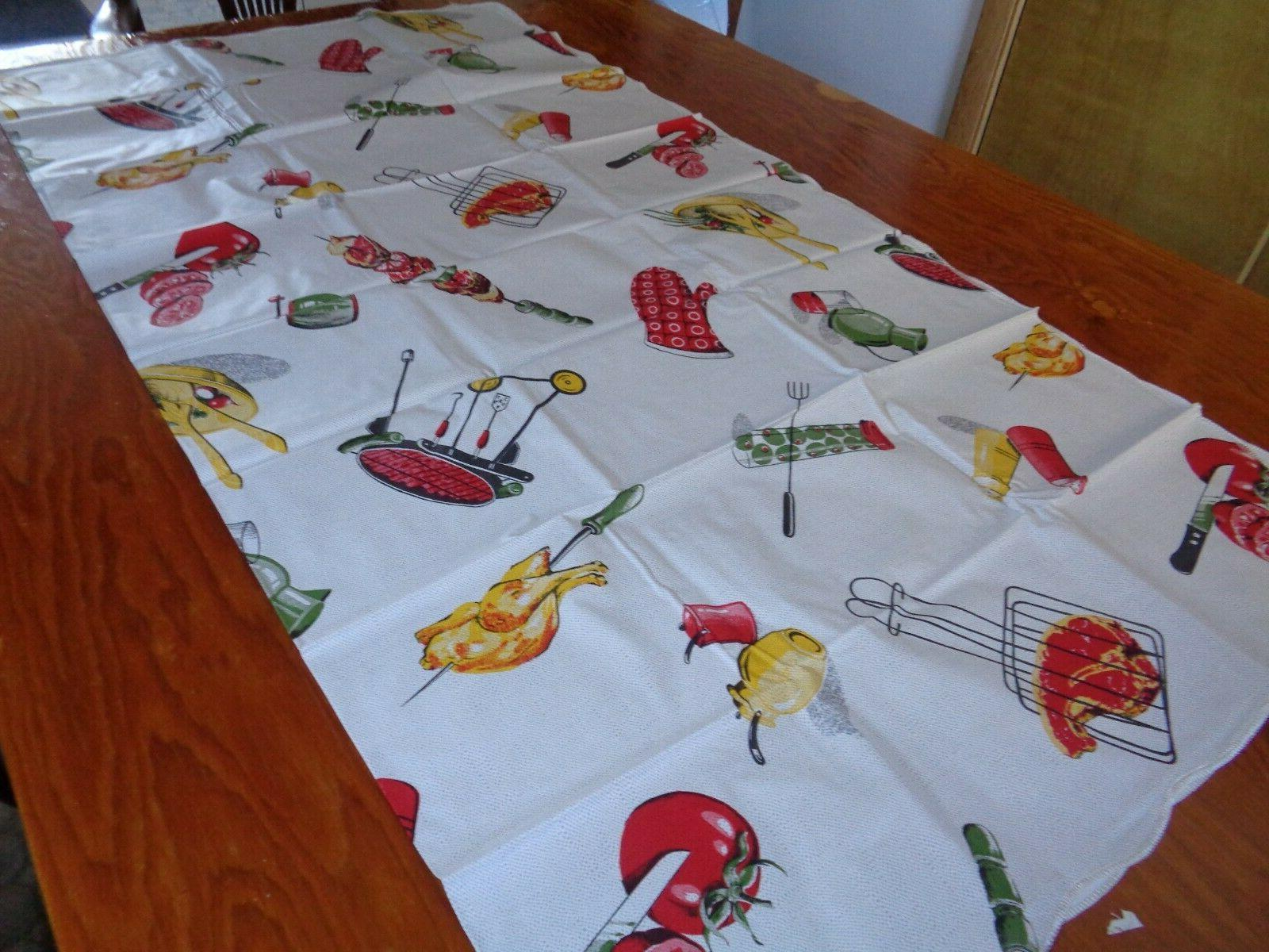 Tablecover/w Apron Outside Barbecue Royal Vinyl Product