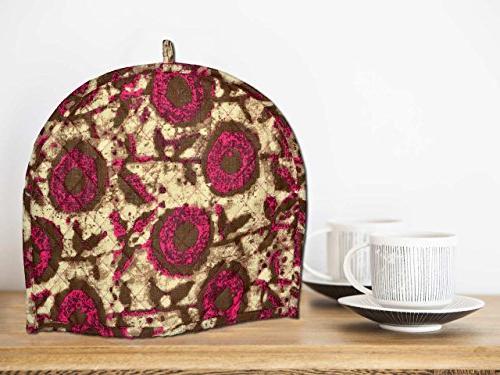 tea cosy british maroon brown