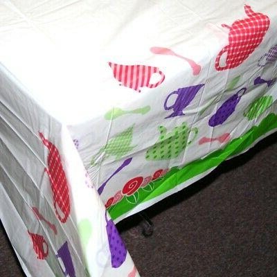 Tea Party Tablecover. Fun Express. Shipping is Free