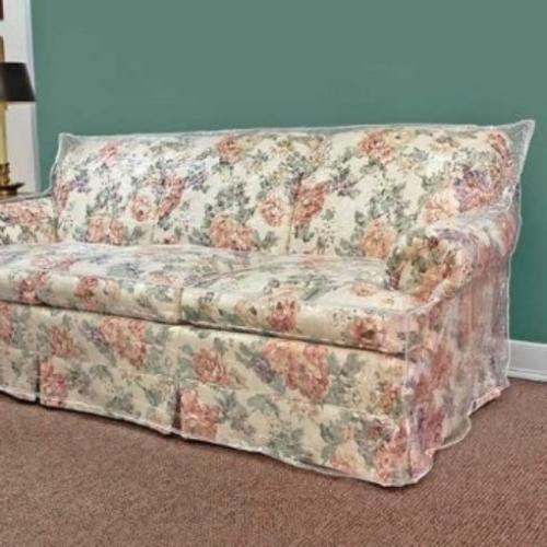 LAMINET Thick Crystal Clear Heavy-Duty Water Resistant Sofa/