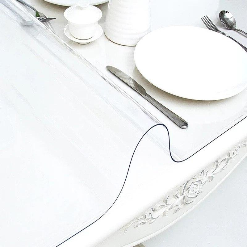 Thick Tablecloth Waterproof <font><b>Table</b></font> Oil-proof Soft Glass kitchen Dinning <font><b>Table</b></font> High