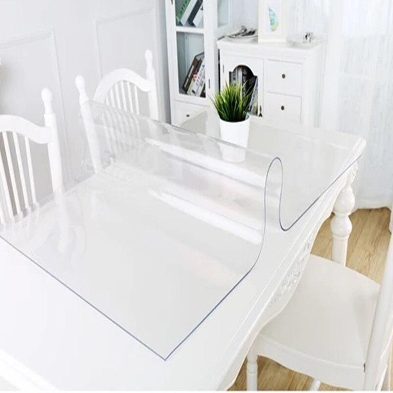 Thick <font><b>2mm</b></font> PVC Tablecloth Waterproof <font><b>Cover</b></font> Oil-proof kitchen