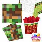 TNT Party Pixel Video Game Minecraft Inspired Plates Napkins