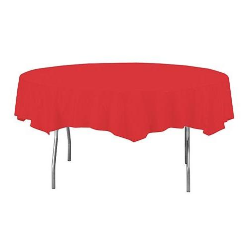 Creative Converting Touch of Color Octy-Round Cover, 82-Inch, Red