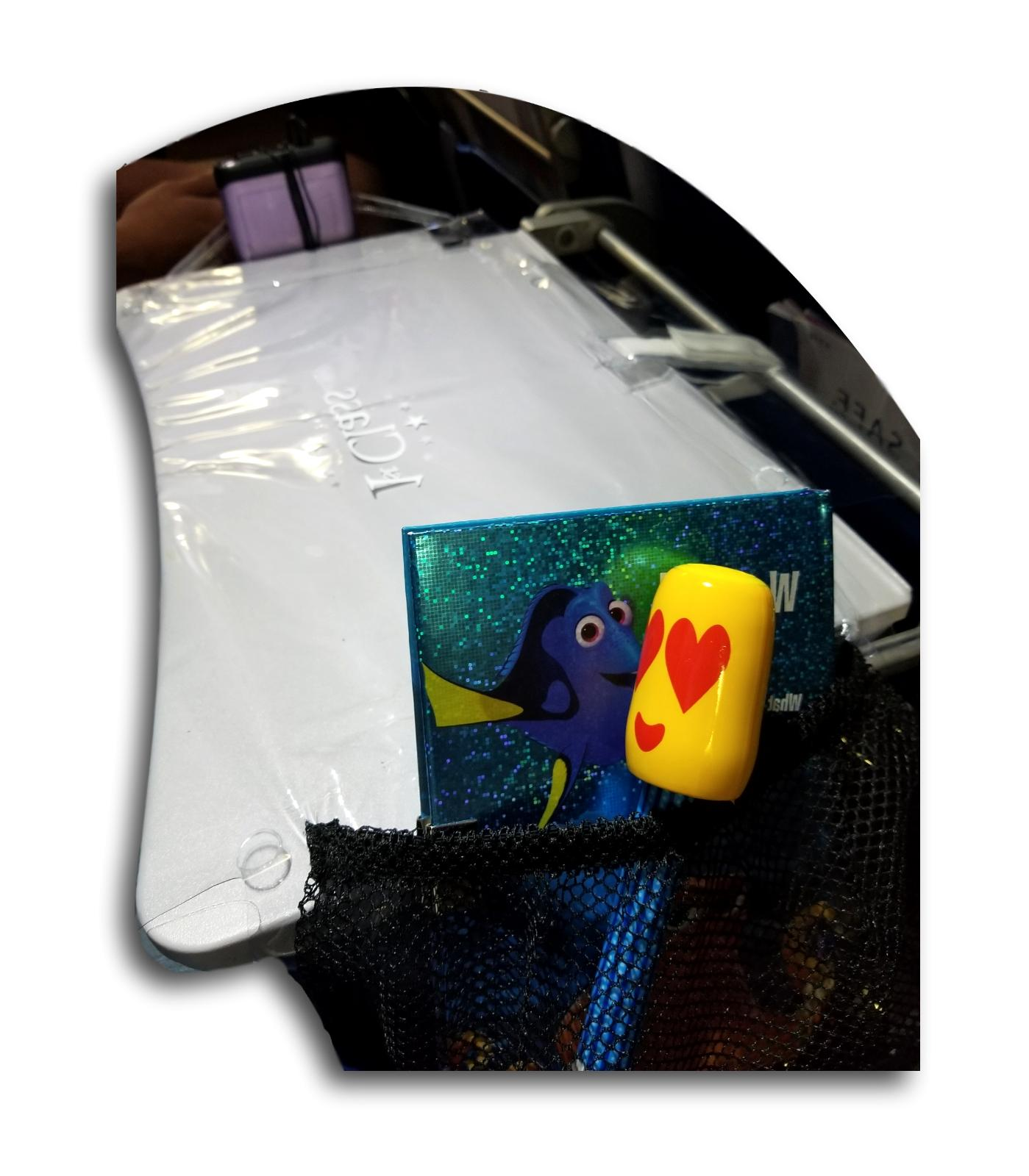 Travel Table Cover pockets Clip on Storage 2 Items