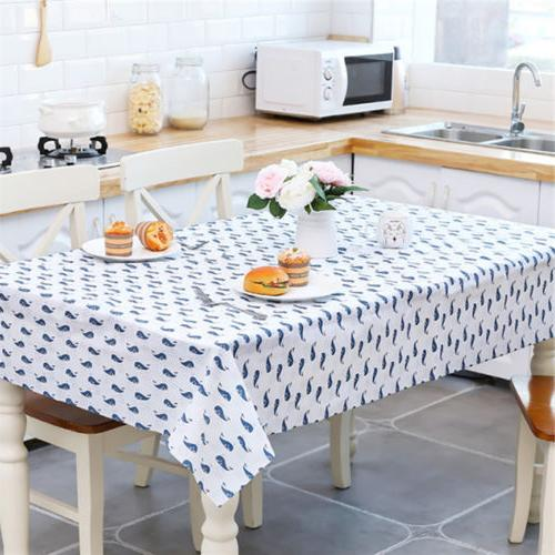 Trendy Oil Proof PVC Table Cloth Cover Home Dining Kitchen T