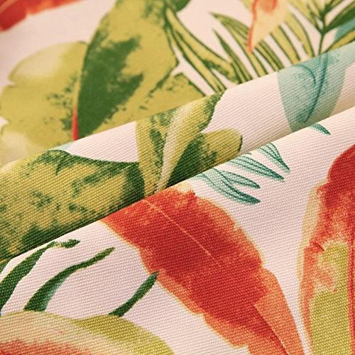 ColorBird Tropical Leaves Cotton Dust-proof for Kitchen Tabletop Linen Decoration