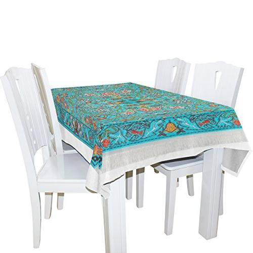 BAIHUISHOP Tablecloth Wedding Indoor Outdoor Oblong Dining Room Party Tablecloths Parties Cover Inch