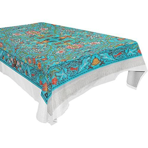 BAIHUISHOP Tablecloth Indoor Oblong Party Tablecloths Dinner Parties Table Cover Inch