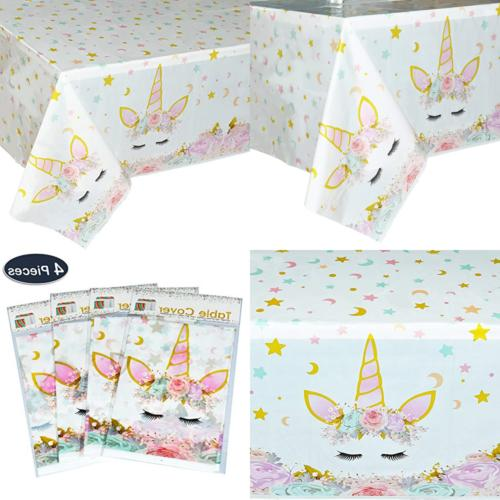 unicorn table cover 4 pack magical party