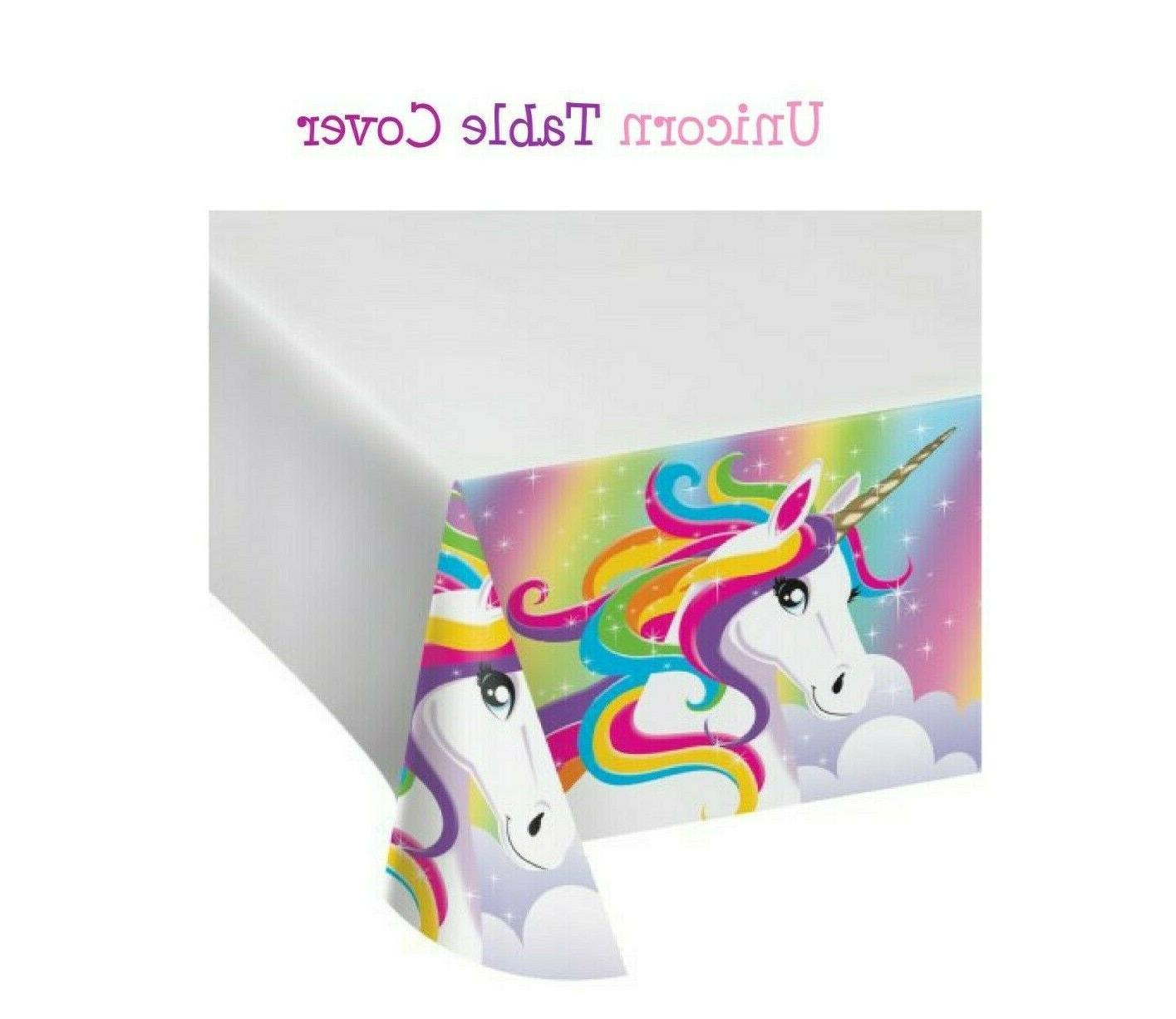 unicorn table cover disposable birthday party supplies