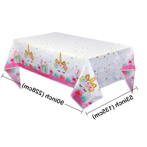 Unicorn Party Tablecloth Table Kid