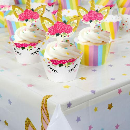 Unicorn Party Tablecloth Table Kid Baby Shower