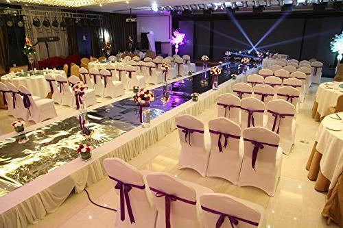 ISWEES Set PCS Polyester Spandex Chair Covers,Modern Stretchy Slipcover for Banquet Home Decoration Flat