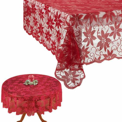 us festival table cloth red lace table