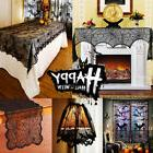 US Halloween Home Decoration Spider Bat Curtain Fireplace La
