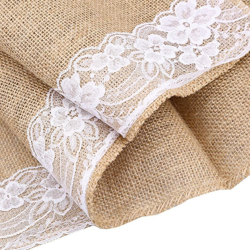 US Luxury Runner Linen Floral Table Cover Runners Textile