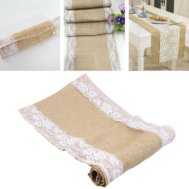 US Luxury Runner Linen Floral Table Cover Runners Home Textile