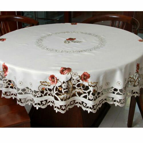 US Embroidered Floral Cover Dining Banquet