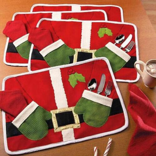 USA Christmas Dinner Table Runner Placemat Cushion Cover Tab