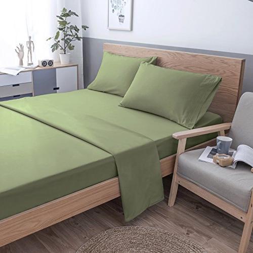VEEYOO Microfiber - Stain, Resistant Extra Bedding - Luxury Hotel Deep Twin Set, 3 Pieces,