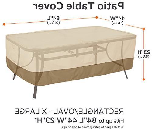 Classic Accessories Veranda Patio Table Cover Durable