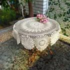 Vintage Crochet Flower Table Cover Round Topper Tablecloth B