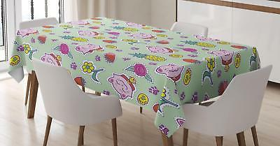 Vintage Kids Tablecloth by Ambesonne 3 Sizes Rectangular Tab