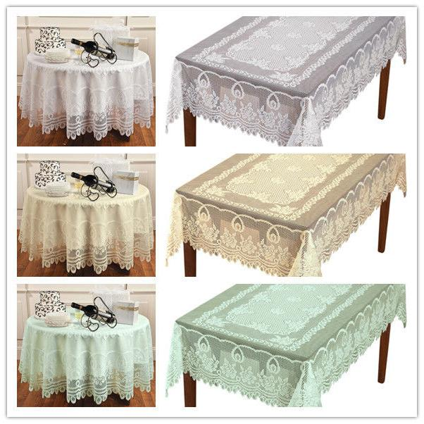 vintage lace tablecloth dining table cloth cover